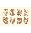 hand drawn of maya icons on vector image