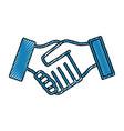 handshake symbol isolated vector image vector image