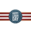 Happy Labor Day greeting Banner vector image