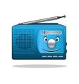 Happy retro transistor radio vector image