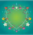 heart shaped ornamental decorative romantic frame vector image vector image