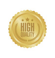 high quality gold sign round label vector image vector image