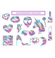 holographic patches vector image