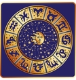 Horoscope circleZodiac signconstellationsmoon vector image
