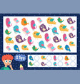 i spy game for kids find and count cute birds vector image vector image