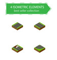 isometric way set of repairs unilateral single vector image vector image