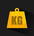 kg design vector image vector image