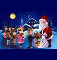 kids donation during christmas vector image vector image