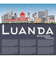 Luanda Skyline with Gray Buildings Blue Sky vector image vector image