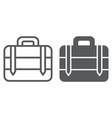 luggage line and glyph icon bag and baggage vector image vector image