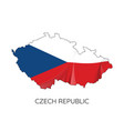 map czech republic vector image