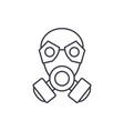 mask line icon concept mask linear vector image