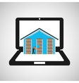 online delivery concept warehouse storage vector image