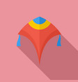paper kite icon flat style vector image