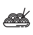 pasta food icon design sign vector image