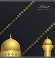 ramadan kareem islamic greeting card with mosque vector image vector image