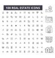 Real estate editable line icons 100 set