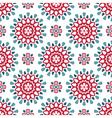 Round retro pattern vector image
