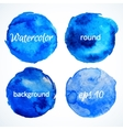 round water color backgrounds vector image vector image