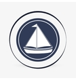 Sea lifestyle icon nautical design Flat vector image vector image