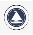 Sea lifestyle icon nautical design Flat vector image