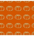 Seamless pattern of autumn pumpkins Harvest of vector image vector image