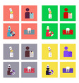 set of clinical icons medical equipment on the vector image vector image