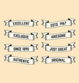 set trendy vintage ribbons banners vector image vector image