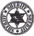 Sheriff stamp vector image vector image
