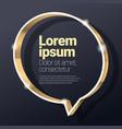 shiny glossy golden metallic 3d speech bubble vector image vector image