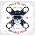 Snowboarding king t-shirt graphic vector image