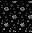 snowflake simple seamless pattern abstract vector image vector image