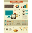 Social network infographics set retro style design vector | Price: 1 Credit (USD $1)