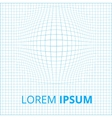 Sphere embosed in grid vector image