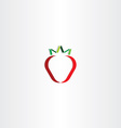 strawberry stylized icon vector image vector image