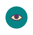 stylish icon in color circle vision problems vector image vector image