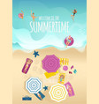 summer beach vacation and holiday time vertical vector image