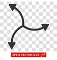 Swirl Arrows Round Eps Icon vector image