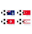 Tristan da Cunha Turkey Tunisia or Turkish Flag vector image
