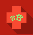 veterinary clinic symbol animal paw print vector image