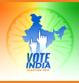 vote for india election background vector image vector image