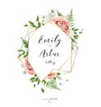 wedding invitation floral invite card art design vector image vector image