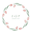 wreath tulip flowers and leaves forming a vector image vector image