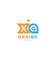 xa x a orange blue alphabet letter logo vector image vector image