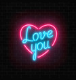 happy valentines day neon glowing festive sign on vector image
