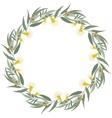 Eucalyptus wreath Floral border frame vector image