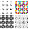 100 sun icons set variant vector image