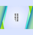 abstract template header and footers blue and vector image vector image