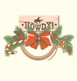 american christmas decoration for cowboy western vector image vector image