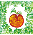 Apple nature pattern vector image vector image